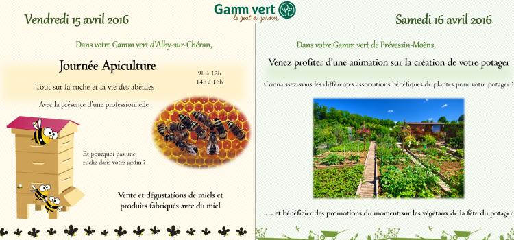 Deux animations Gamm vert cette semaine !